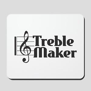 Treble Maker - Black Mousepad