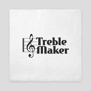 Treble Maker - Black Queen Duvet