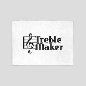 Treble Maker - Black 5'x7'Area Rug