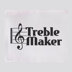 Treble Maker - Black Throw Blanket