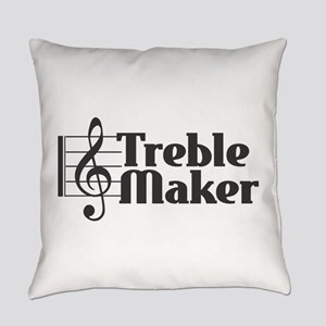 Treble Maker - Black Everyday Pillow