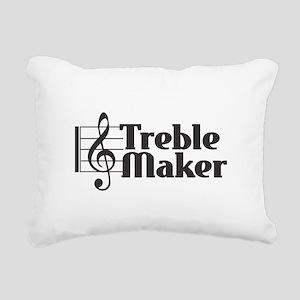 Treble Maker - Black Rectangular Canvas Pillow