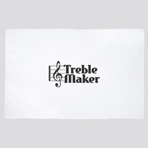Treble Maker - Black 4' x 6' Rug