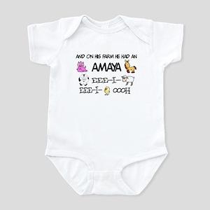 Amaya had a Farm Infant Bodysuit