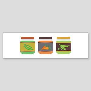 Baby Food Vegetables Bumper Sticker