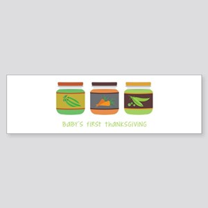 Baby's First Thanksgiving Bumper Sticker