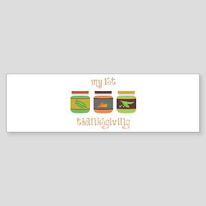 My 1St Thanksgiving Bumper Sticker