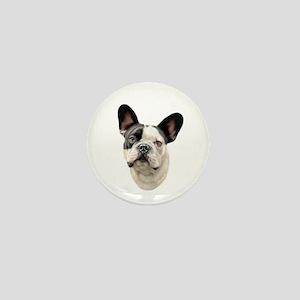 French Bulldog BW Bust Mini Button