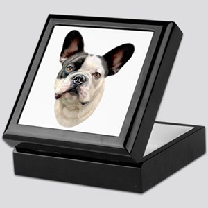 French Bulldog BW Bust Keepsake Box
