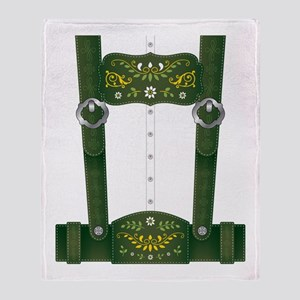 Lederhosen Costume Throw Blanket