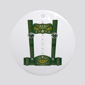 Lederhosen Costume Round Ornament