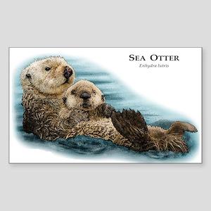 Sea Otter Rectangle Sticker