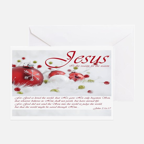 Jesus Is The Reason For The Season Greeting Cards