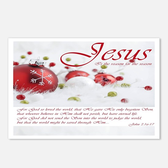 Jesus Is The Reason For Postcards (package Of 8)