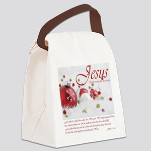 Jesus is the reason for the season Canvas Lunch Ba