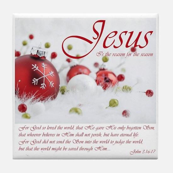Jesus Is The Reason For The Season Tile Coaster