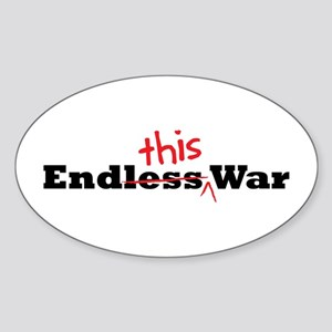 End This War Oval Sticker