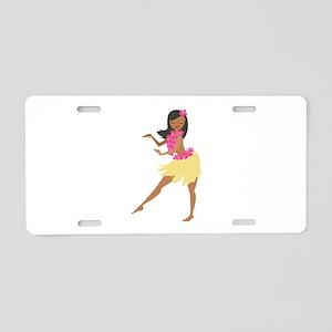 Hula Girl Aluminum License Plate