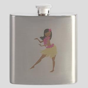 Hula Girl Flask