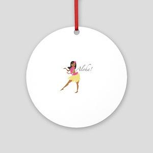 Aloha Girl Ornament (Round)