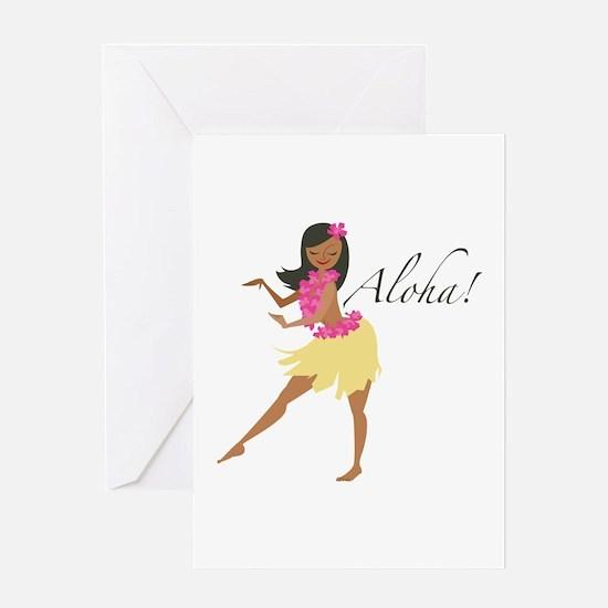 Aloha Girl Greeting Cards