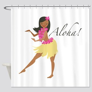 Aloha Girl Shower Curtain