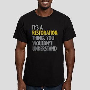 Its A Restoration Thin Men's Fitted T-Shirt (dark)
