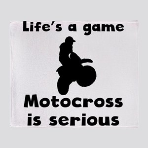 Motocross Is Serious Throw Blanket