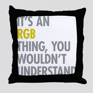 Its An RGB Thing Throw Pillow