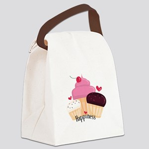 Cupcake Happiness Canvas Lunch Bag