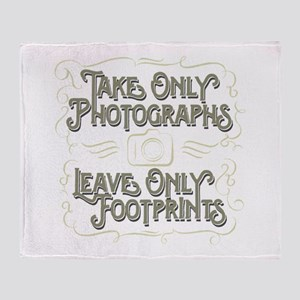 Take Only Photographs Throw Blanket