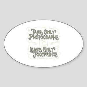 Take Only Photographs Sticker (Oval)