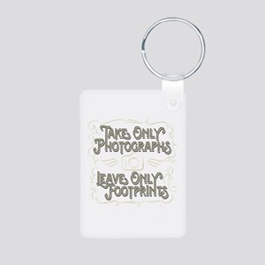 Take Only Photographs Aluminum Photo Keychain