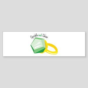 Sparkle and Shine Bumper Sticker