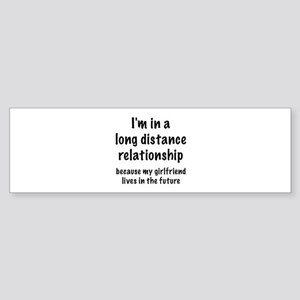 Long Distance Relationship Sticker (Bumper)
