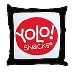 Yolo! Snacks Logo Throw Pillow