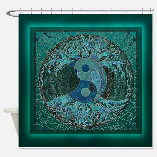 Cool Celtic tree of life Shower Curtain