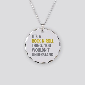 Its A Rock N Roll Thing Necklace Circle Charm