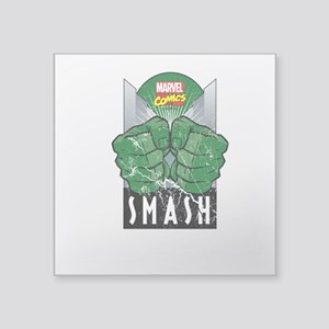 "Hulk Smash All Square Sticker 3"" x 3"""
