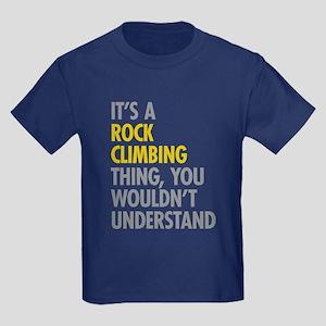 Rock Climbing Thing Kids Dark T-Shirt