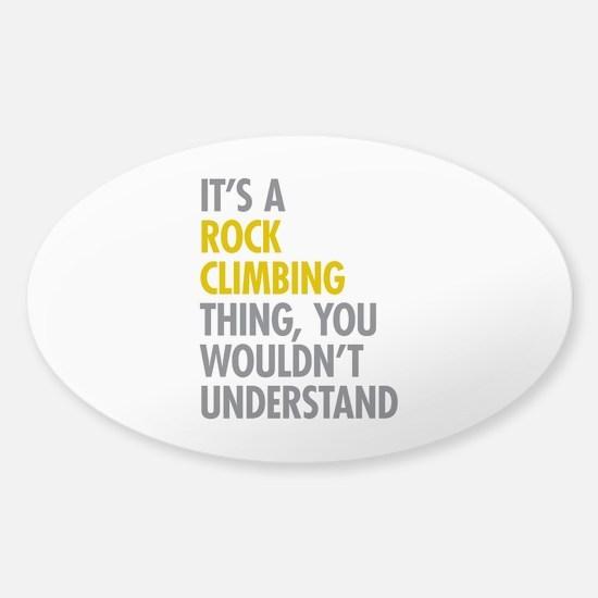 Rock Climbing Thing Sticker (Oval)
