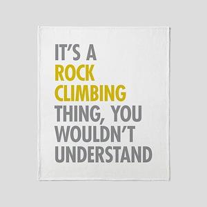 Rock Climbing Thing Throw Blanket