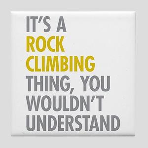 Rock Climbing Thing Tile Coaster