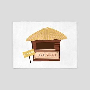 Tiki Shack Closed 5'x7'Area Rug