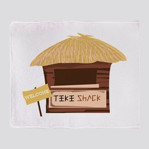 Tiki Shack Welcome Throw Blanket