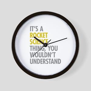 Rocket Science Thing Wall Clock