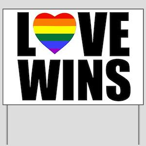 LOVE WINS! Yard Sign