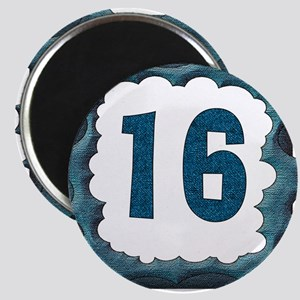 16th Birthday Buttons and Magnets Magnet