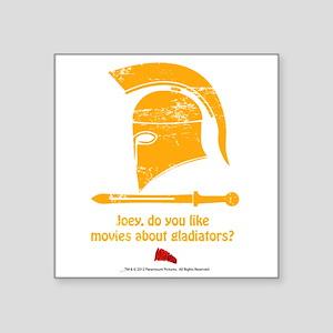 "Gladiator Square Sticker 3"" X 3"""