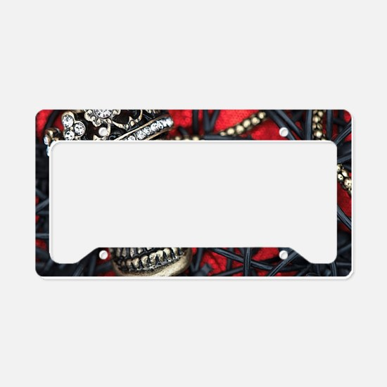 Skull and Spiders License Plate Holder
